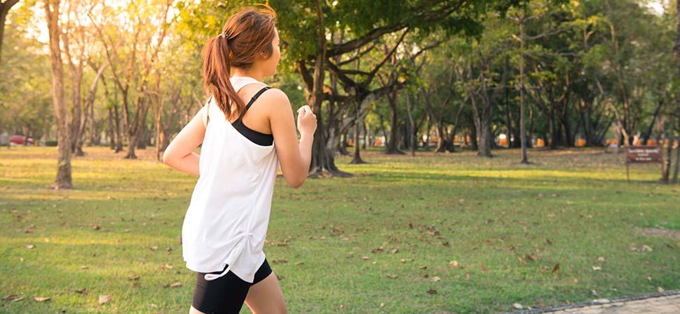 Runner in a Park